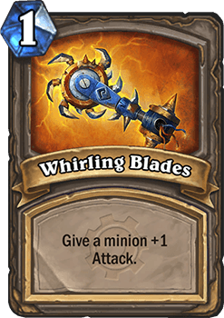 whirling blades goblins vs gnomes hearthstone alkatrész