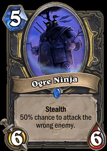 ogre ninja hearthstone kártya goblins vs gnomes