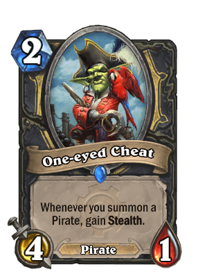 one-eyed cheat goblins vs gnomes hearthstone kártya