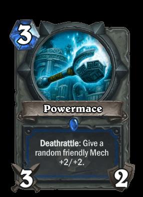 powermace goblins vs gnomes hearthstone kártya