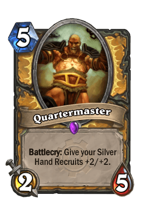 quartermaster goblins vs gnomes hearthstone kártya