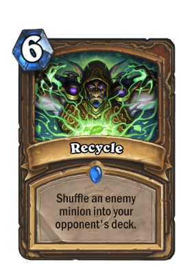 recycle goblins vs gnomes hearthstone kártya
