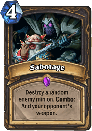 sabotage hearthstone kártya goblins vs gnomes