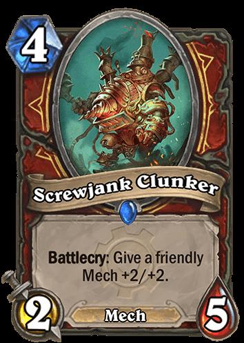 screwjank clunker hearthstone kártya goblins vs gnomes