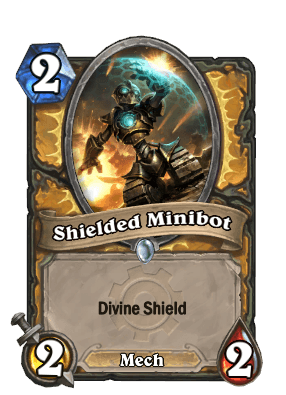 shielded minibot goblins vs gnomes hearthstone kártya