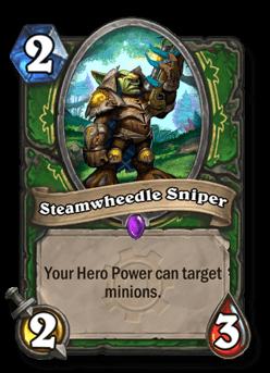 steamwheedle sniper goblins vs gnomes hearthstone kártya