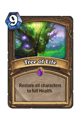 tree of life goblins vs gnomes hearthstone kártya