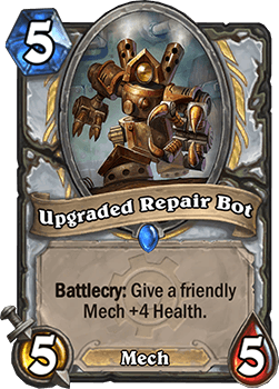 upgraded repair bot hearthstone kártya goblins vs gnomes