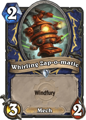 whirling zap-o-matic hearthstone kártya goblins vs gnomes