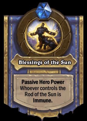 blessings of the sun hero power