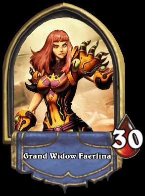 Faerlina ellenség Naxxramas kaland mód Hearthstone