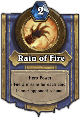 Faerlina hero power Rain of Fire