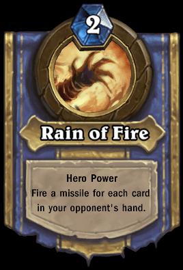 Faerlina hero power Rain of Fire