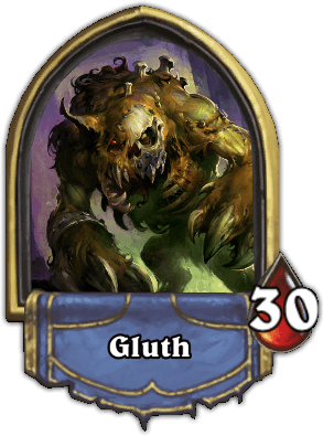 Gluth ellenség Naxxramas kaland mód Hearthstone