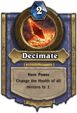 Gluth hero power Decimate