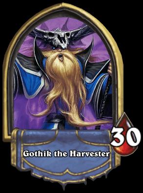 Gothik the Harvester ellenség Naxxramas kaland mód Hearthstone