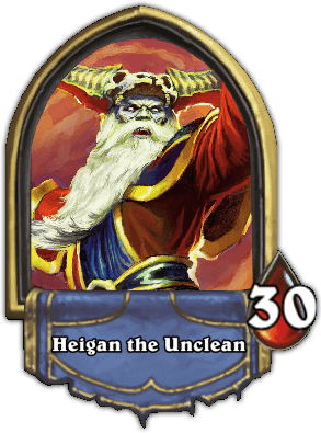 Heigan the Unclean ellenség Naxxramas kaland mód Hearthstone