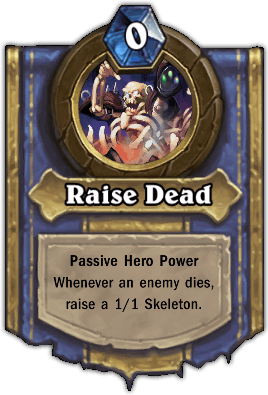 Noth the Plaguebringer hero power Raise Dead