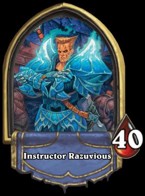Instructor Razuvious ellenség Naxxramas kaland mód Hearthstone