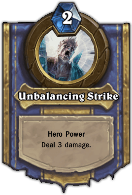 Instructor Razuvious hero power Unbalancing Strike