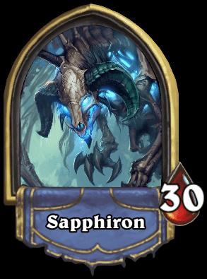 Sapphiron ellenség Naxxramas kaland mód Hearthstone
