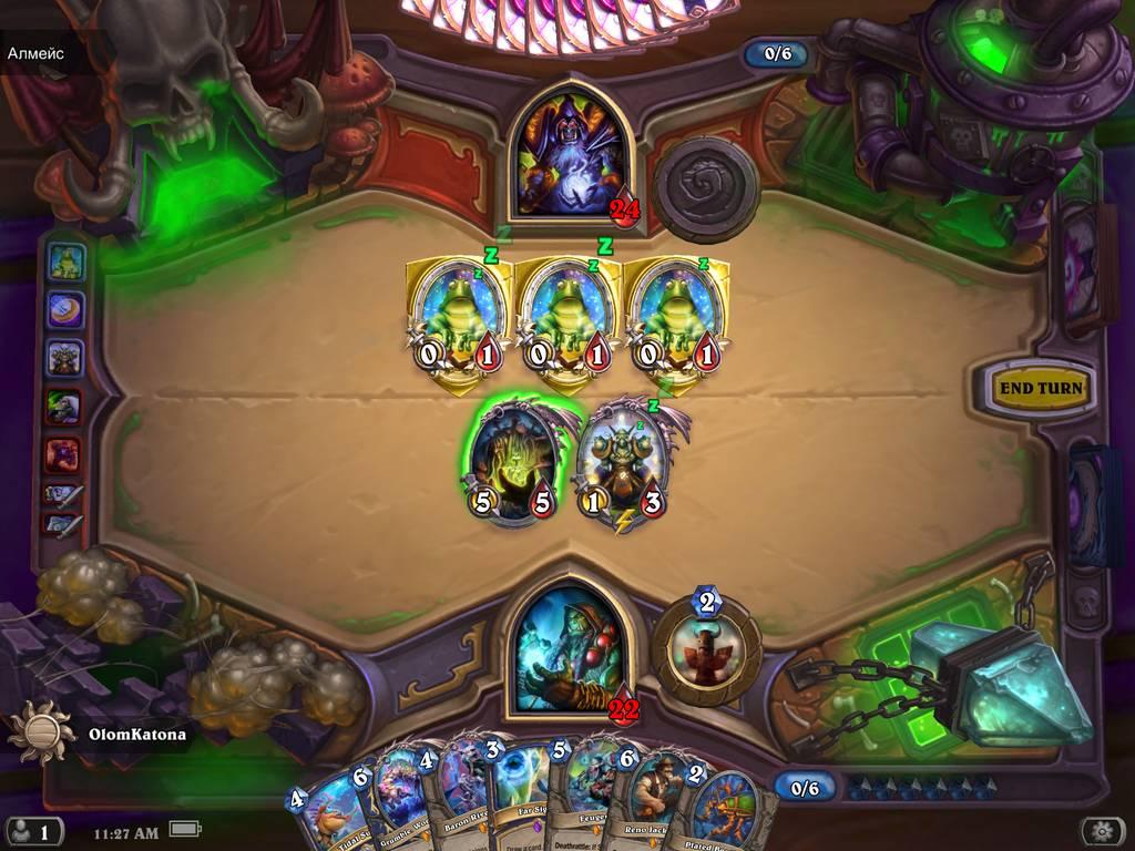 Hearthstone kép a játékról